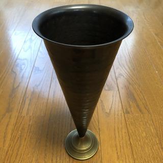 金属製 花瓶 一輪挿し 花器 真鍮