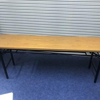 【中古美品】折りたたみテーブル 幅1800m奥行450m