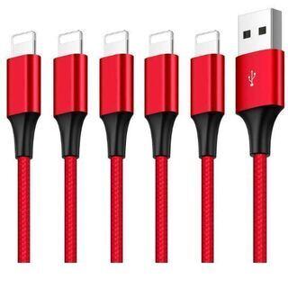 ライトニングケーブル 5本セット1M iPhone 充電ケーブル...