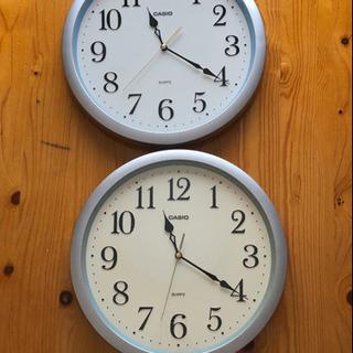 中古 カシオ掛時計 33センチ 2台