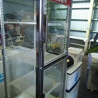 三洋電機四面ガラス208リットル冷蔵ショーケース冷蔵庫