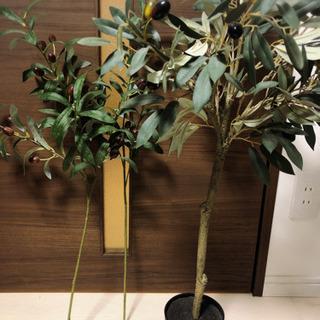 オリーブの木+枝2本付き フェイクグリーン