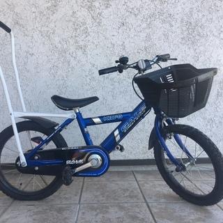 補助バー付き 子供用自転車(初めての自転車練習にぴったり)