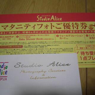 スタジオアリス★マタニティフォト優待券(無料待受画像付き)