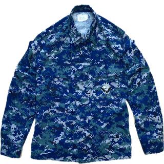1点物◆実物USNアメリカ海軍ACUデジカモ迷彩柄ミリタリージャ...