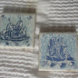 手書きタイル 帆船2種