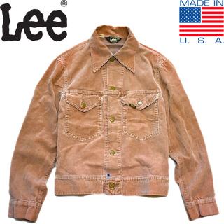 1点物◆USA製リーLeeコーデュロイジャケット古着メンズMLレ...