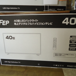 【引取限定】TV テレビ 未使用品 FEP FD4011B 20...