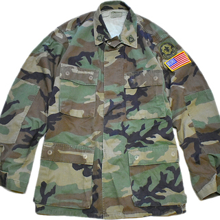 1点物◆実物アメリカ軍BDU迷彩柄ミリタリージャケット古着メンズ...