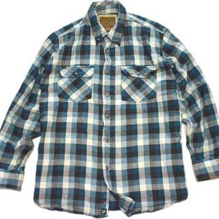 1点物◆ビッグサイズ長袖チェック柄ボタンダウンシャツUSA古着メ...