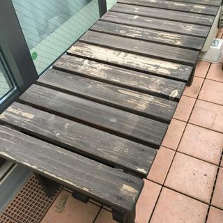 【品川区・武蔵小山】木製ベンチ