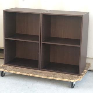 無料で!カラーボックス2個◇シェルフ◇木製棚◇差し上げます