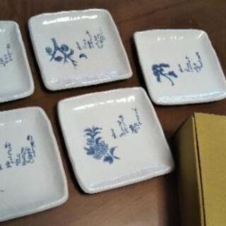 ◆良寛 歌集道具 創作陶器5枚セット◆箱付き未使用