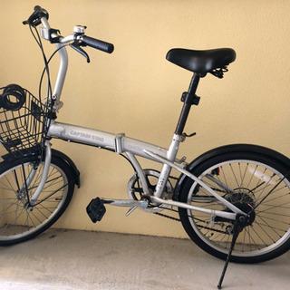 早いもの勝ち、折り畳み自転車。作動良好!鍵付き。