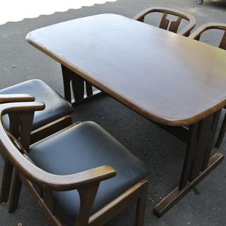 【101604】ダイニングセット テーブル:幅135cm 奥行8...
