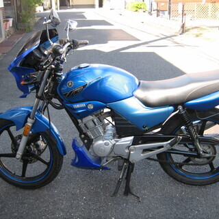 YBR125 少走行 エンジン好調 青カラー