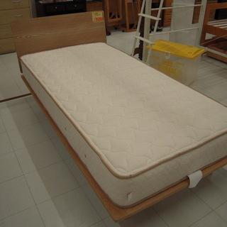 マットレス付きシングルベッド 木製シングルベット おしゃれなベッ...
