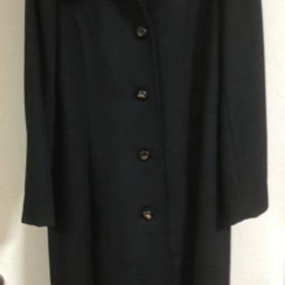 ロングコート カシミア 100% 黒