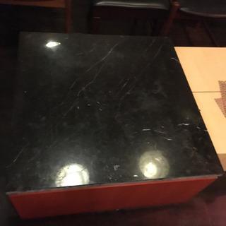 お得 テーブル 黒 大理石