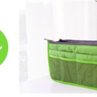【未使用】バッグインバッグ 軽い 旅行 ポーチ 大容量 収納 グリーン