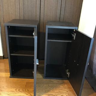 茶色 収納家具2ケセット 本棚.靴箱などにも使えます。