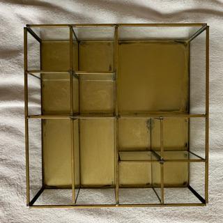 レトロ アンティーク 飾り棚 ガラス 真鍮 什器
