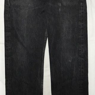 Levis リーバイス501 ブラックデニムパンツ W33 ブラ...