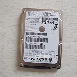 ハードディスク MJA2500BH 9.5mm 2.5インチHD...