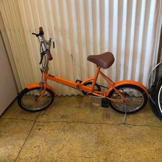 折りたたみ自転車 16インチ オレンジ色 仕上がりました