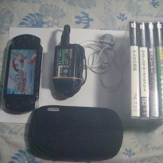 SONY  PSP1000 (ジャンク品)  本体+充電器+ソフト6本