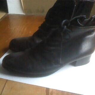 革ブーツ 23.5cm