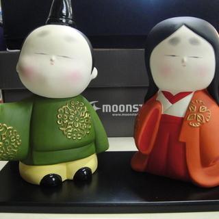 美品 陶人形 平安人形 X7227 陶器 ひな祭り