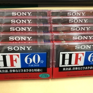 SONYカセットテープ60分(C-60HFA)10個