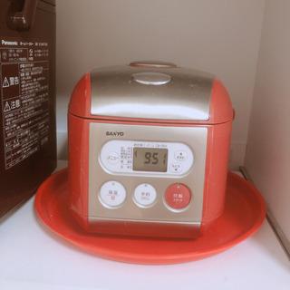 炊飯器 サンヨー 赤