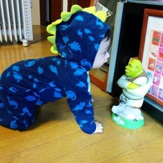 かわいい恐竜服 ロンパース
