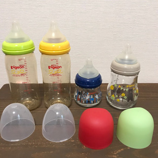 ピジョン ・コンビ哺乳瓶7本セット 粉ミルクケース付