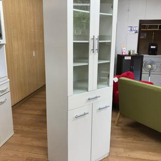 【リサイクルサービス八光  田上店 配置・配達OK】食器棚 ホワイト