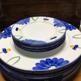 花柄皿大5枚小4枚カップ5個セット