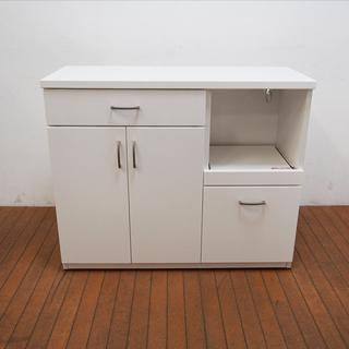 【良品】ホワイトカラー キッチンカウンター 幅100 奥行40 ...