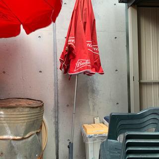 バドワイザー 傘2つ