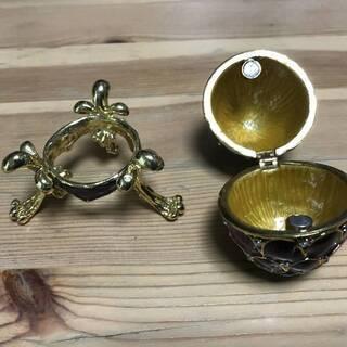 ファベルジェの卵 インペリアルエッグ 指輪、ビアス、リング宝石入...