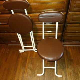 折りたたみ丸椅子(2客)