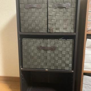 三段ボックス ブラック