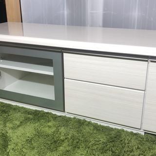 白 木目調テレビボード