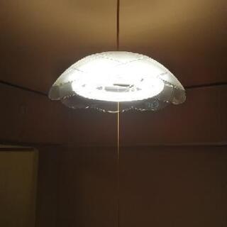 【交渉中】10/30まで!照明 ライト +対応の蛍光灯 3本 付...