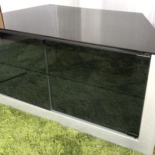 テレビ台 キャスター付き! 天板と棚板ガラス