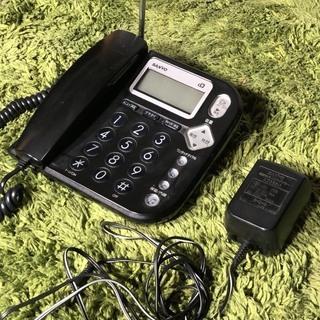 SANYO 電話機 ブラック