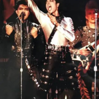 マイケル・ジャクソン生写真2枚セットプレミア1987年ジャパンツ...