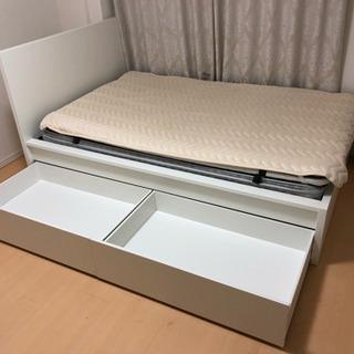【超高級品】セミダブルベッド シーリー製マットレス ベッドパッド...