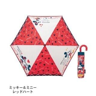 折りたたみ傘 ミッキー& ミニー レッドハート 【新品未開封】9...